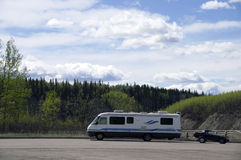 Alaska Highway Motor Home Rest Stop Stock Image