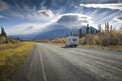 Alaska Highway near Destruction Bay Royalty Free Stock Image