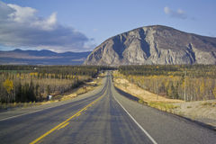 Alaska Highway near Haines Junction Royalty Free Stock Photography