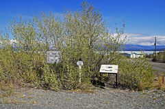 Alaska Highway Rest Stop. Historic Mile 1093 in Burwash Landing, Yukon Territory, Canada Stock Photos