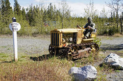 Alaska Highway Rest Stop. Historic Mile 1093 in Burwash Landing, Yukon Territory, Canada Stock Image