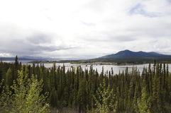 Alaska Highway River Bridge Stock Photos