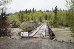 Alaska Highway River Wooden Bridge Stock Images