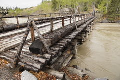 Alaska Highway River Wooden Bridge Stock Photos