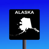 Alaska highway sign Royalty Free Stock Images