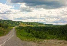 The alaska highway in the springtime Stock Photos