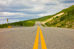 The alaska highway in the springtime Royalty Free Stock Photos