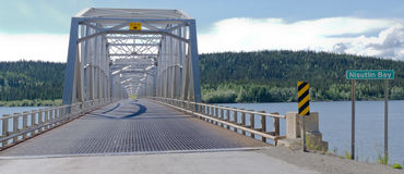 Alaska Highway steel bridge Teslin Yukon Canada Royalty Free Stock Photography