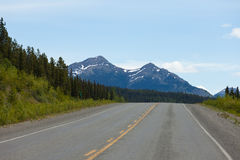 Alaska Highway taiga wilderness Yukon Canada Stock Photography