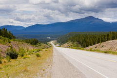 Alaska Highway west of Watson Lake Yukon Canada Royalty Free Stock Photo