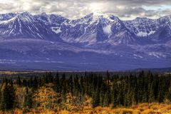 Alaska Highway from Whitehorse to Haines Junction, Yukon Territories to Haines, Alaska royalty free stock image