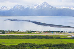 Alaska - Homer Airport and the Spit Stock Photo
