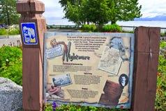 Alaska - Homer Baycrest Overlook Rest Area Stock Photography