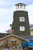 Alaska - Homer förföljer berömdt salt salongen Arkivbilder