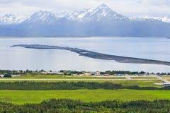Alaska - Homer flygplats och spotta arkivfoto