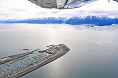 Alaska - Homer Spit Kachemak Bay Aerial View Royalty Free Stock Images