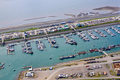 Alaska - Homer Spit Small Boat Harbor Aerial 2 Stock Images