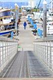 Alaska - Homer spottar fartyghamn tar fram rampen Arkivbild