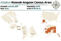 Alaska: Hoonah-Angoon spisu ludności teren Obraz Royalty Free