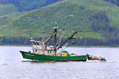 Alaska - Hoonah Commercial Fishing Boat Stock Images