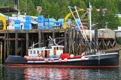 Alaska - Hoonah Fishing Trawler Boat Stock Photo