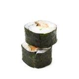 Alaska hosomaki sushi isolated Stock Images