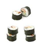 Alaska hosomaki sushi isolated Royalty Free Stock Photos