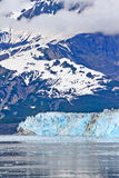 Alaska Hubbard Glacier, Clouds, Mountains Stock Photo
