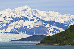 Alaska Hubbard Glacier and Mountain Vista Stock Photos