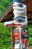 Alaska Huna Tlingit Totem Pole Stock Photo