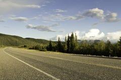Alaska huvudväg Arkivbild