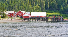 Alaska Icy Strait Point Cannery Complex Stock Images