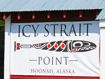 Alaska Icy Strait Point Sign Royalty Free Stock Photo
