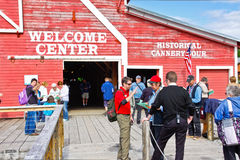 Alaska Icy Strait Point Welcome Center Stock Photo