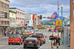 Alaska im Stadtzentrum gelegenes Ketchikan Lizenzfreies Stockfoto
