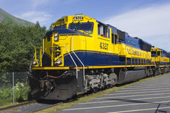 alaska järnväg Fotografering för Bildbyråer