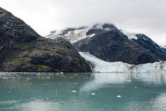 Alaska - Johns Hopkins Glacier. USA Alaska, Glacier Bay National Park and Preserve, UNESCO - World Heritage site, UNESCO - World Biosphere Reserve, Johns Hopkins Royalty Free Stock Photo