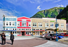 Alaska - Juneau Cruise Ship Shopping Royalty Free Stock Photography