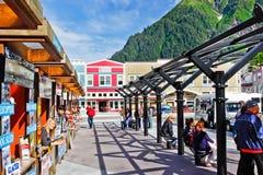 Alaska - Juneau Cruise Tour Transit Hub Stock Images