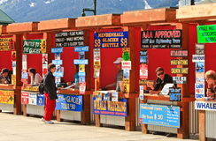 Alaska - Juneau Cruise Tour Vendor Booths Stock Photos