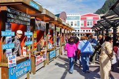 Alaska- - Juneau-Reiseflug-Ausflug-Verkäufer Stockfotografie