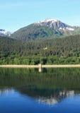 Alaska-Küstenlinie in Juneau Lizenzfreies Stockbild