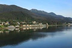 Alaska-Küstenlinie in Juneau Lizenzfreie Stockfotos