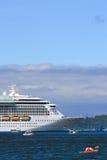Alaska - kajak, fiskebåtar, kryssningShip 2 Fotografering för Bildbyråer