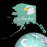 Alaska-Karte Stockbild