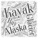 Alaska Kayaking Destinations Offer Something for Everyone word cloud concept vector background Royalty Free Stock Image