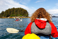Alaska - Kayaking near Homer Alaska Royalty Free Stock Photos