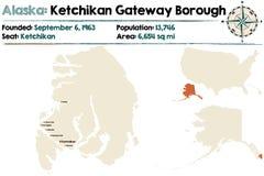 Alaska: Ketchikan bramy podgrodzie royalty ilustracja