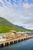 Alaska Ketchikan Colorful Waterfront Royalty Free Stock Photos