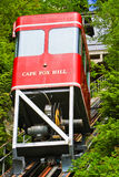 Alaska Ketchikan Creek Street Funicular. The Cape Fox Hill Creek Street Funicular, an unusual form of transportation and one of the few in service in the United Stock Images